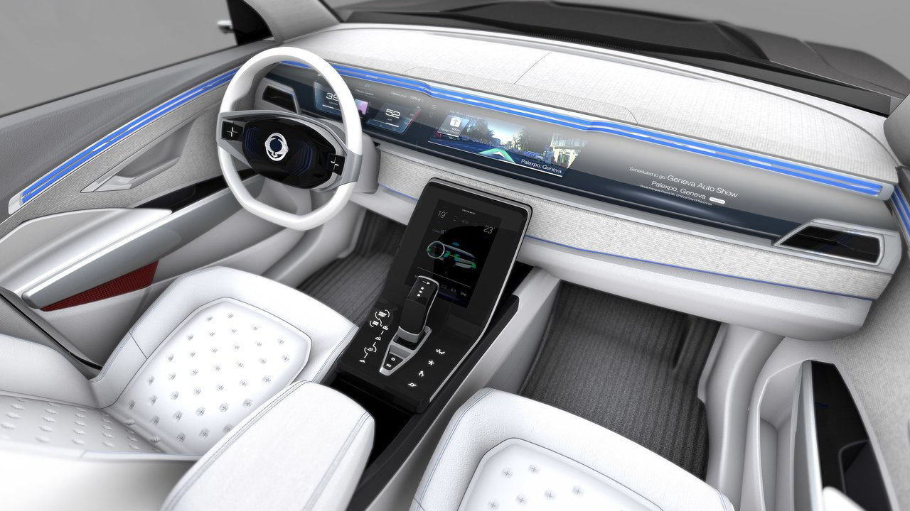 Новый кроссовер 2018 SsangYong e-SIV EV Concept