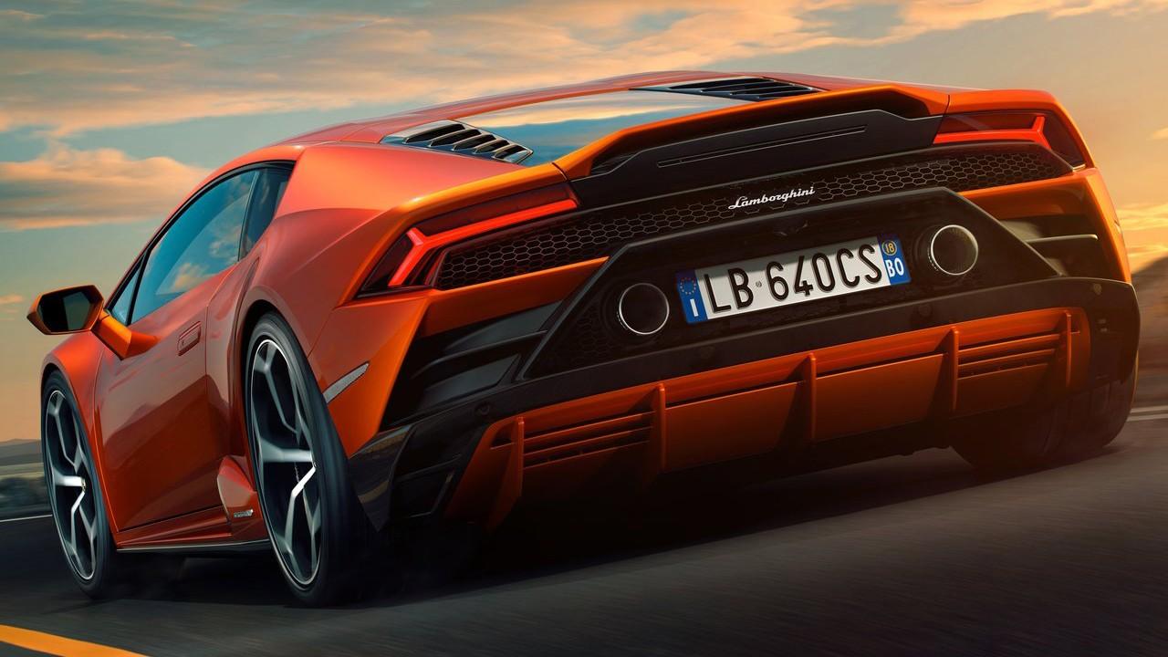 Lamborghini Huracan Evo 2019 vneshnij vid, foto, zadnjaja chast', korma