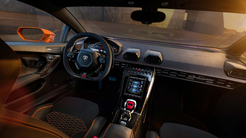Lamborghini Huracan Evo 2019 inter'er, salon, foto