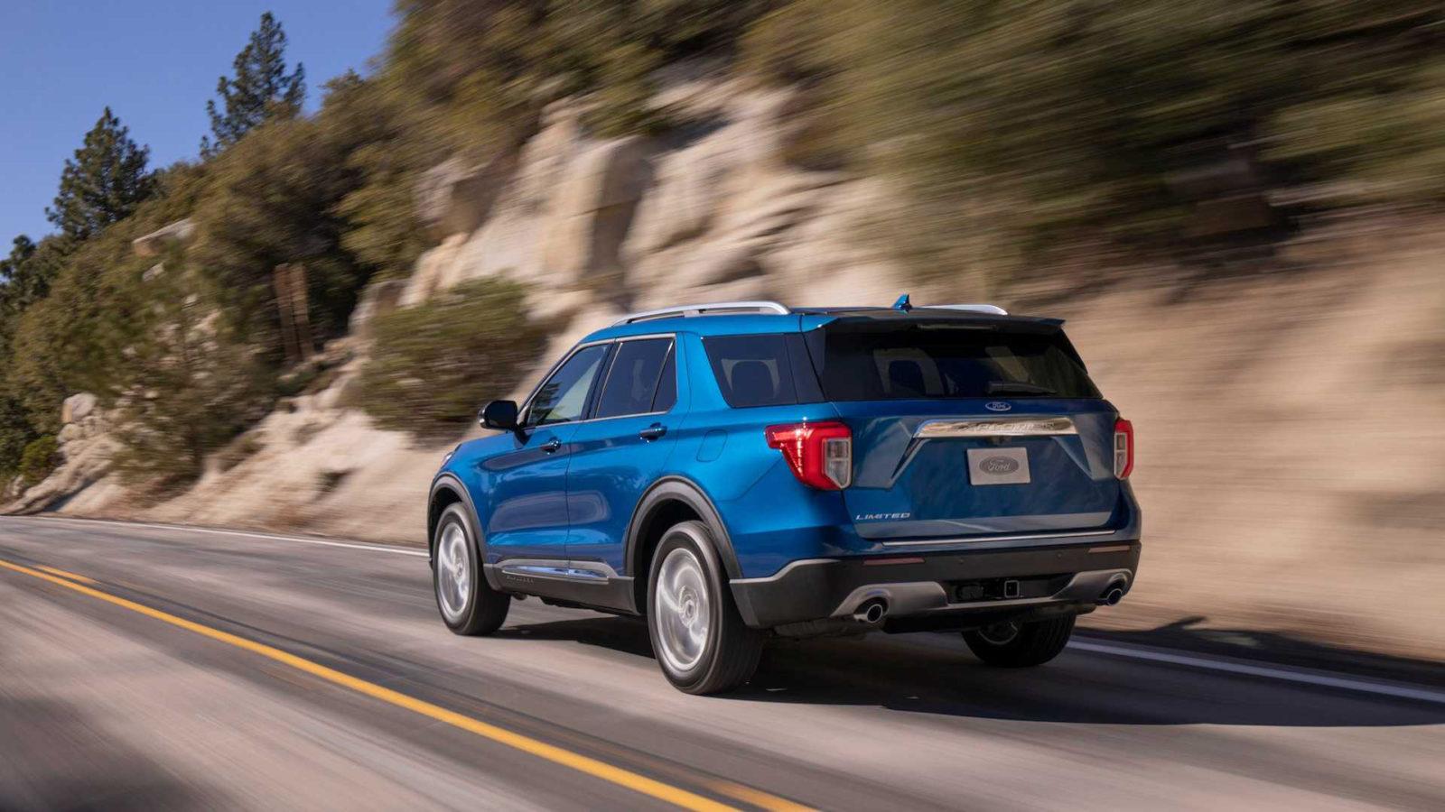 Novyj Ford Explorer 2020 jekster'er, vid сзади, foto