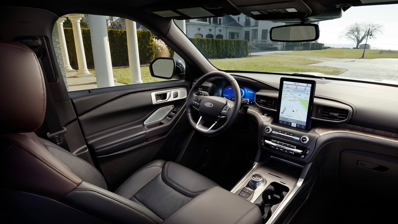 Novyj Ford Explorer 2020 inter'er,salon,obzor,harakteristiki, foto