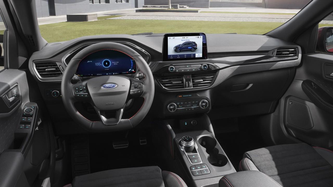 2020 Ford Kuga inter'er, vnutrennee ubranstvo, salon, rul'