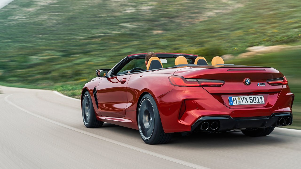 2020 BMW M8 Convertible foto, jekster'er,vid szadi,obzor, cena, data vyhoda — video