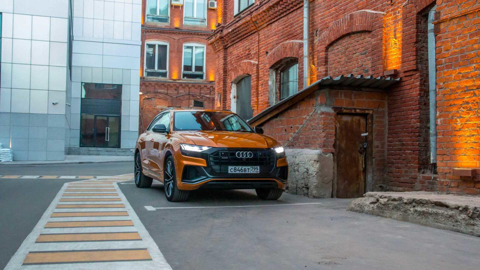 2020 Audi Q8 foto, jekster'er, vid speredi, tehnicheskie harakteristiki, cena, data vyhoda — video
