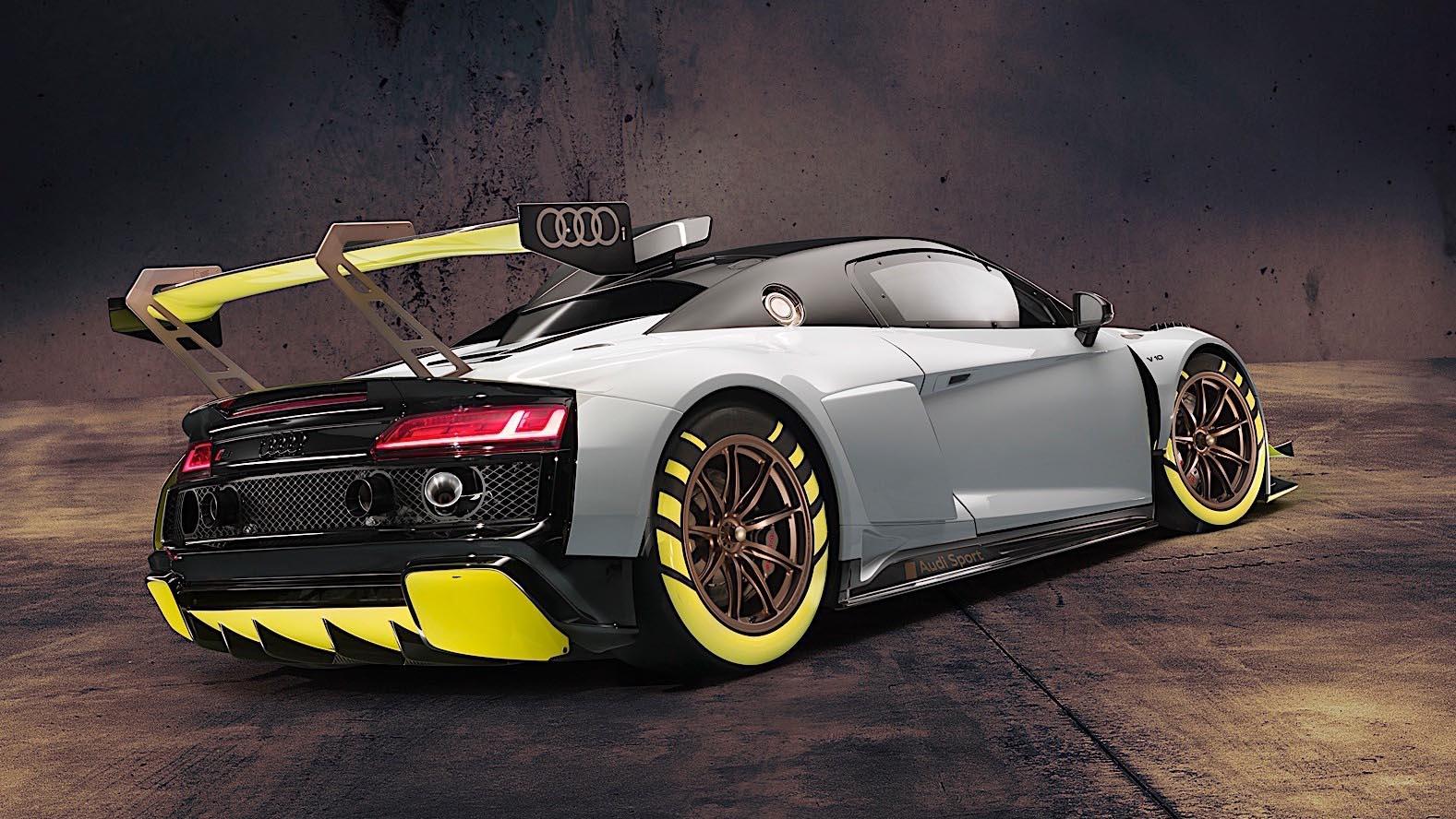 2020 Audi R8 LMS GT2 вид сзади