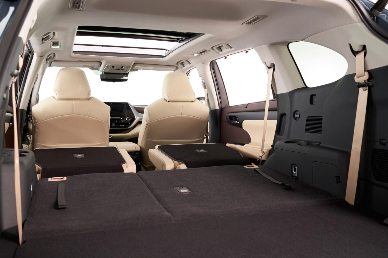 2020 Toyota Highlander foto, bagazhnoe otdelenie, tehnicheskie harakteristiki, cena, obzor, data vyhoda — video