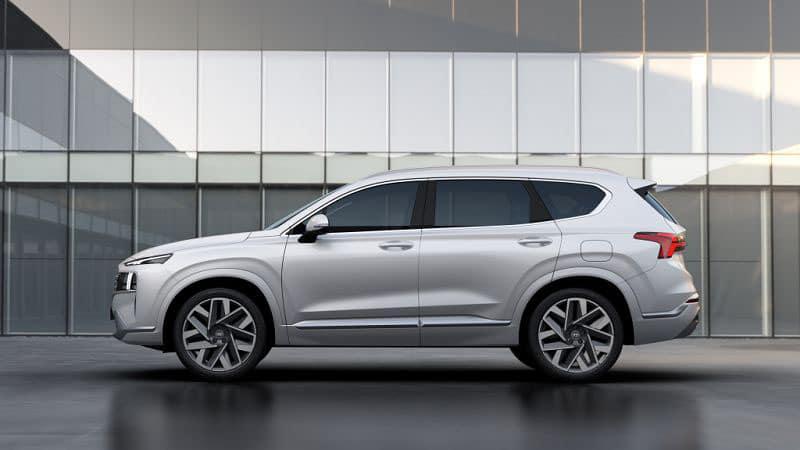 Новый Hyundai Santa Fe 2021 сбоку
