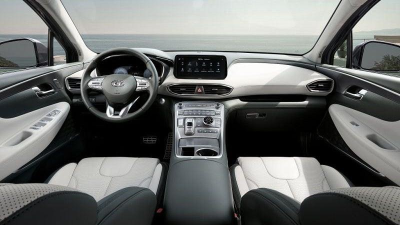 Новый Hyundai Santa Fe 2021 салон