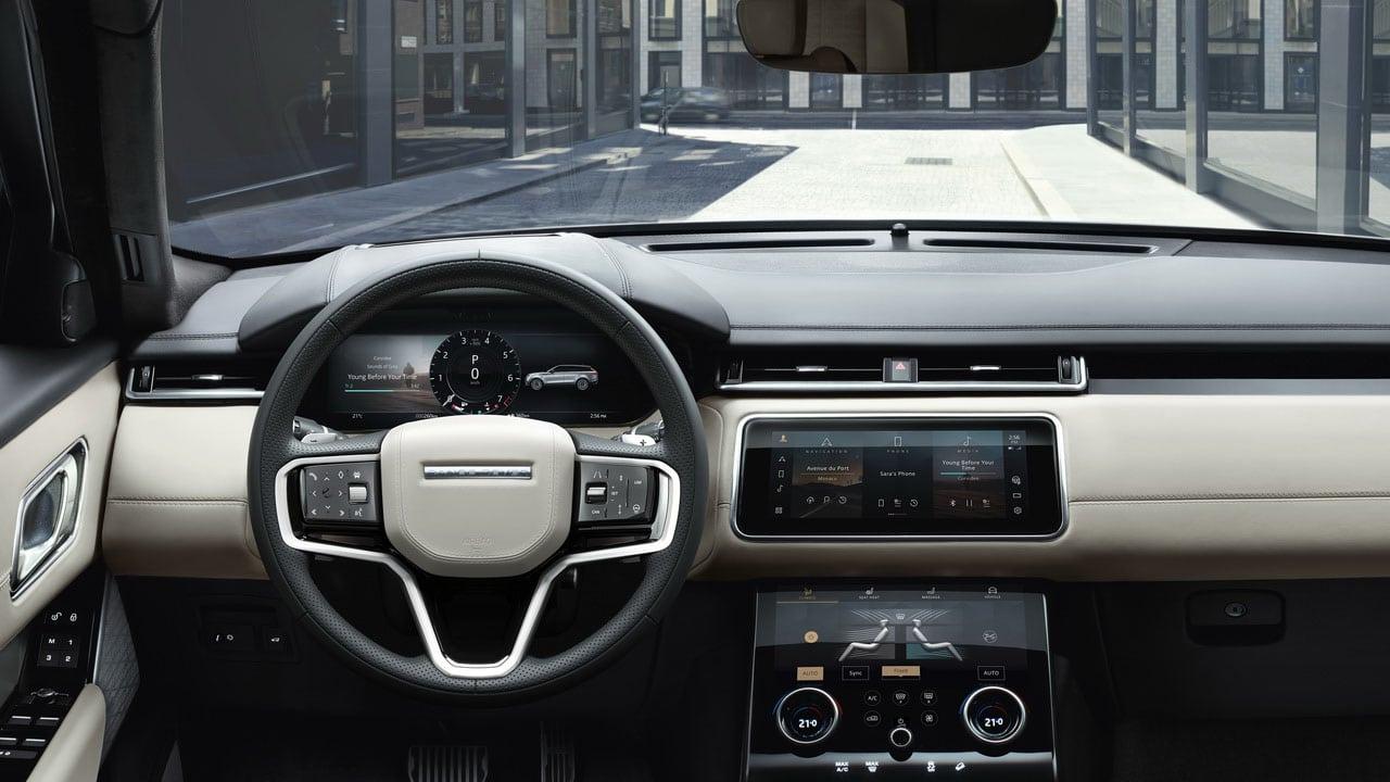 Новый Range Rover Velar 2021 (Ленд Ровер Велар) интерьер
