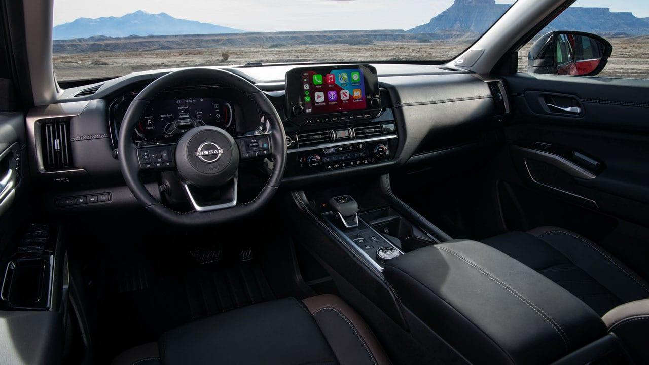 Новый Nissan Pathfinder 2021 (Ниссан Патфайндер) интерьер