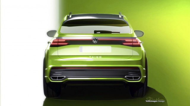 Volkswagen Taigo (Вид сзади)